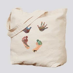 Artsy Baby Hands and Feet Tote Bag
