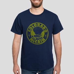 Colorado For McCain (Green) Dark T-Shirt