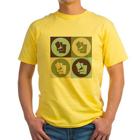 Reading Pop Art Yellow T-Shirt