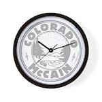 Colorado For McCain (gray) Wall Clock