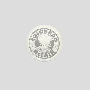 Colorado For McCain (gray) Mini Button