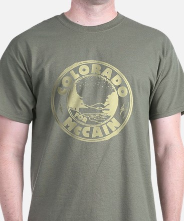 Colorador For McCain (Lt. Green) T-Shirt