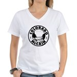 Colorado For McCain (Black) Women's V-Neck T-Shirt