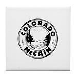Colorado For McCain (Black) Tile Coaster