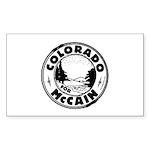 Colorado For McCain (Black) Rectangle Sticker 50