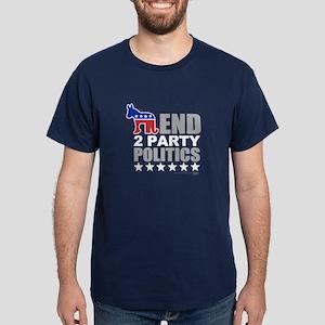 2 Party Politics Dark T-Shirt