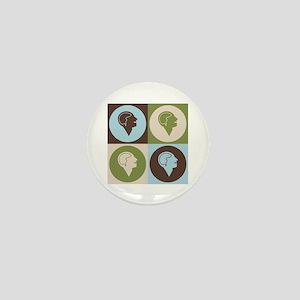 Psychiatry Pop Art Mini Button