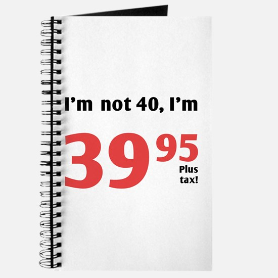 Funny Tax 40th Birthday Journal