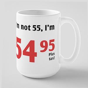 Funny Tax 55th Birthday Large Mug