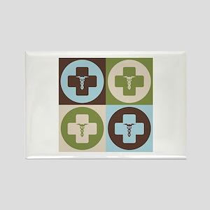 Phlebotomy Pop Art Rectangle Magnet