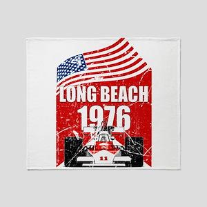 Long Beach 1976 Throw Blanket