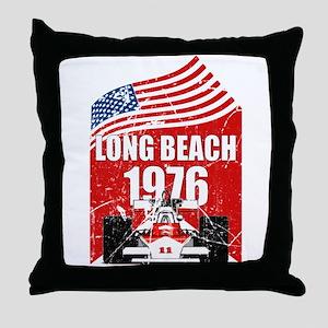 Long Beach 1976 Throw Pillow