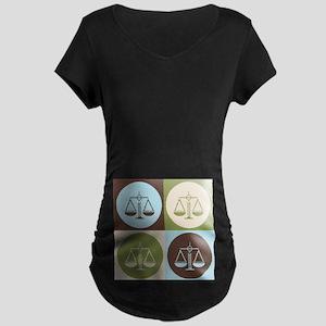 Paralegal Work Pop Art Maternity Dark T-Shirt