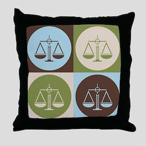 Paralegal Work Pop Art Throw Pillow