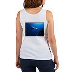 Blue Shark and Diver Women's Tank Top