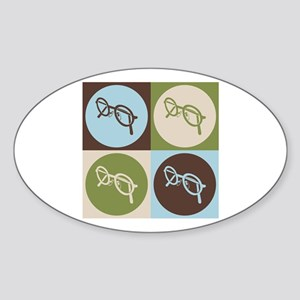 Optics Pop Art Oval Sticker