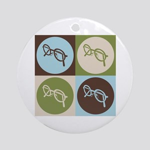 Optics Pop Art Ornament (Round)