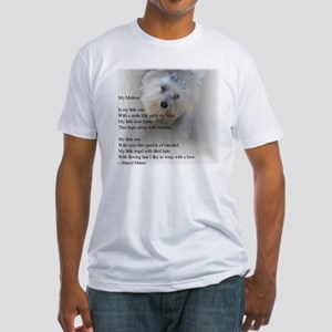 Maltese Poem Fitted T-Shirt