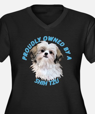 Proudly Owned Shih Tzu Women's Plus Size V-Neck Da