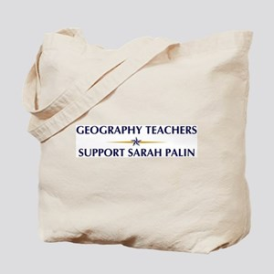 GEOGRAPHY TEACHERS supports P Tote Bag