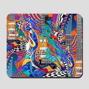 Colorful Music Gift Electric Guitar Desi Mousepad