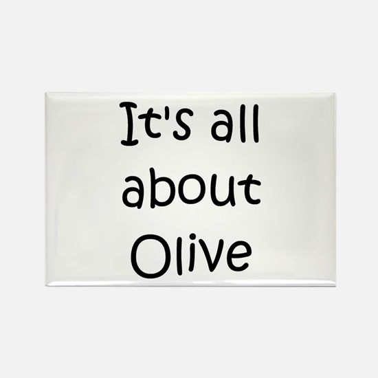 Cool Olive Rectangle Magnet