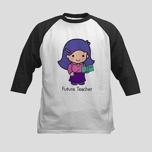 Future Teacher - girl Kids Baseball Jersey