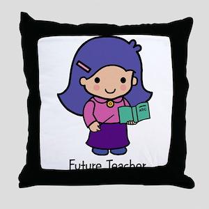Future Teacher - girl Throw Pillow