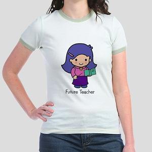 Future Teacher - girl Jr. Ringer T-Shirt
