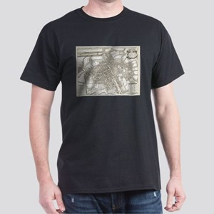 Vintage Map of Oxford England (1675) T-Shirt