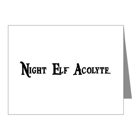 Night Elf Acolyte Note Cards (Pk of 10)