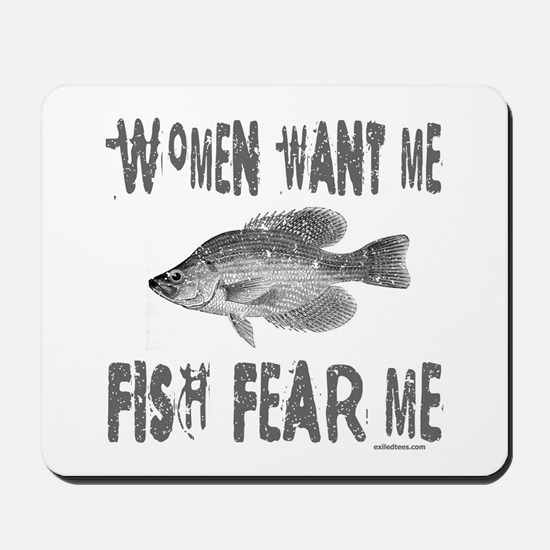 FISH FEAR ME Mousepad