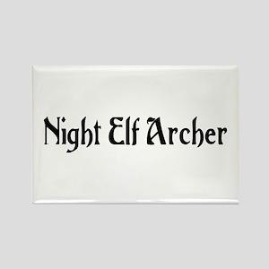 Night Elf Archer Rectangle Magnet