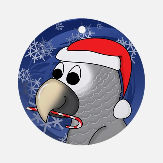 Candy Cane Timneh African Grey Christmas Ornament