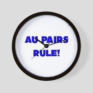 Au Pairs Rule! Wall Clock