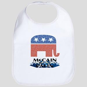McCain Palin Logo Stars Bib