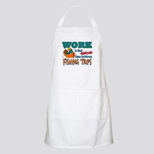 Work vs Fishing Trips BBQ Apron