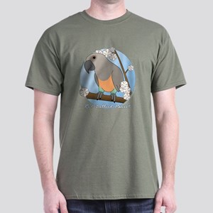 Flower Red Bellied Parrot TeeShirt (Dark)