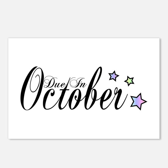 3 Rainbow Stars Due October Postcards (Package of