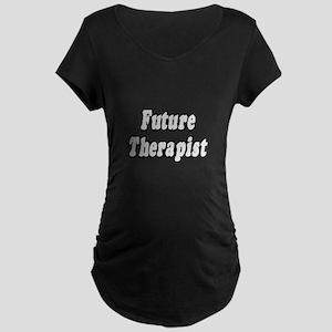 """Future Therapist"" Maternity Dark T-Shirt"