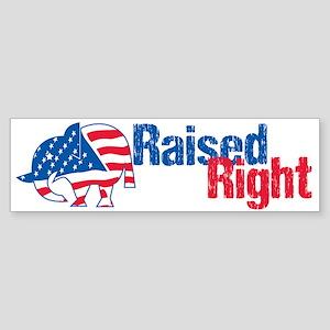 Raised Right Sticker (Bumper)
