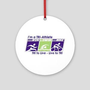 TRI-Athlete Ornament (Round)