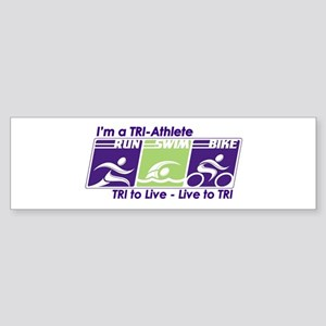 TRI-Athlete Bumper Sticker