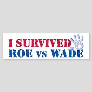 Roe vs Wade (hand) Bumper Sticker