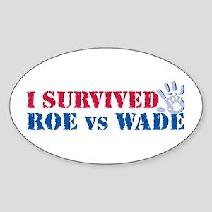 Roe vs Wade (hand) Sticker (Oval)