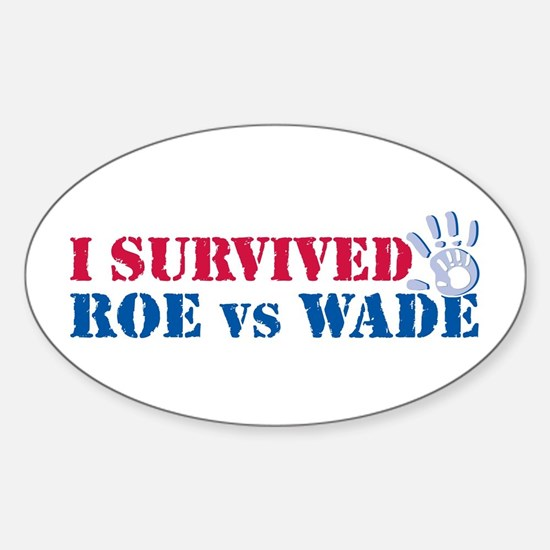 Roe vs Wade (hand) Oval Decal