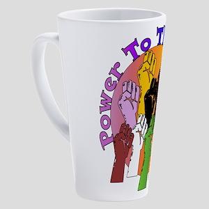 Power To The People 17 oz Latte Mug