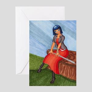Captain Bella Greeting Card