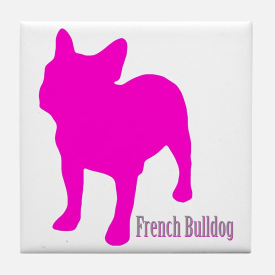 Cute Frenchie Tile Coaster