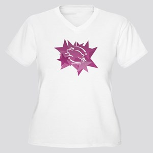 Leaping Bunny Stars (Plus Size V-Neck T-Shirt)